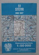 Austria - Osterreichische Karte 1:50,000 Map - Steyr, Sheet 51 - 1995