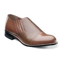 Stacy Adams Mens Shoes Madison Tan Leather Cap toe Loafer Leather Sole 00067-240