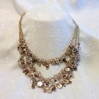KENNETH COLE Gold Tone Multi Strand Beaded Necklace