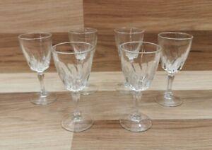 6 x Vintage / Retro Luminarc Flamenco Sherry / Port Glasses