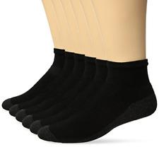Calcetines tobilleros ComfortBlend Max Cushion para hombre, paquete de 6 negro