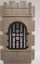 Playmobil Ritterburg - Gitterfenster schwarz mit Fenstermauerteil