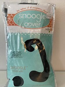 NEW The Chic Jersey Knit  Snoogle Pillow Cover - Charcoal Gray 100% Cotton