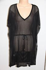 NWT Calvin Klein Swimwear Bikini Cover Up Dress Size L XL Black Adj. Waist