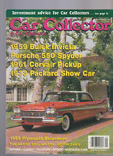 Car Collector & Car Classics September 1989 Plymouth Belvedere Packard Corvair