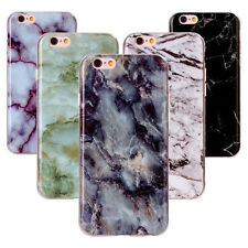Marmor Case Granit Stein Schutz Hülle Tasche Schale Silikon Cover Luxus Softcase