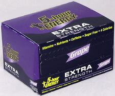 5 Hour Energy Shot Extra Strength Grape 12 Count 1.93 oz Sugar Five Free Hr