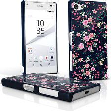 Florales Funda Plástico Duro para Sony Xperia Z5 Compact E5803 Carcasa Cover