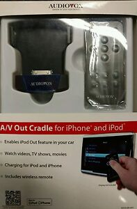 Audiovox ADCR-200-AVO A/V Out Cradle for iPhone and iPod NEW