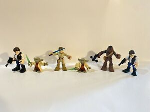 Fisher Price Imaginext STAR WARS Figures Yoda  Han Solo Chewbacca Luke Skywalker