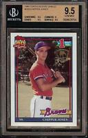 1991 Topps #333 Desert Shield Chipper Jones Rookie RC HOF BGS 9.5 GEM MINT +