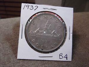 1937 CANADA SILVER DOLLAR (B4)