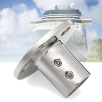 """Boat Hand Rail Fittings 90 Degree 7/8"""" Round Base Marine Stainless Steel  .-"""