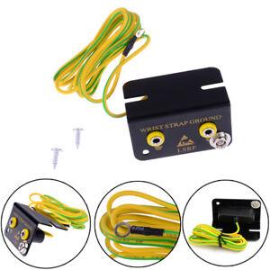 ESD Ground Socket Dual Banana Plug for Anti Static Wrist Strap Armband N SP