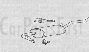 EXDN6119 EXHAUST SILENCER TAIL PIPE +3Yr Warranty P4298