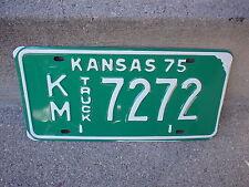 VINTAGE 1975 KANSAS KM 7272 TRUCK  LICENSE PLATE  EXCELLENT CONDITION
