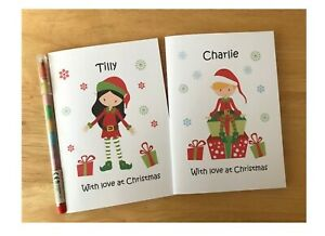 A6 Personalised Children's Kids Colouring Activity Pack - ELF cover