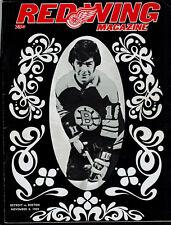 Red Wing Magazine 1969 November 8 VS Bruins1970 March 8 VS North Stars Unscored