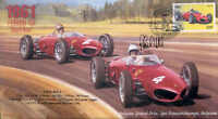 1961c FERRARI 156 (Shark Nose), SPA-FRANCORCHAMPS F1 cover signed PHIL HILL