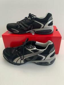 PUMA USA Men's 10.5 Cell Summanus Shoes Black Silver Running Sneakers NEW