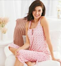 Avon Pajamas Pretty Polka Dots PJ Set Size L/G Large 2pc Set in Pink New Sealed