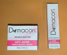 Dermacort Anti-aging Moisturizing Cream 1 Oz & Eye Lift Restoring Serum .5 Fl Oz
