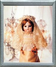 Cute Baby Doll in Wedding Dress Tom Kelley Kids Room Silver Framed Picture 20x24