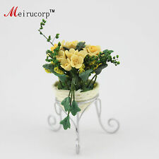 Dollhouse 1:12 Scale Miniature Potted plants Yellow roses 09869