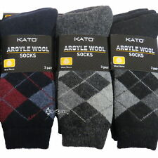 Wool Blend Argyle, Diamond Socks for Men