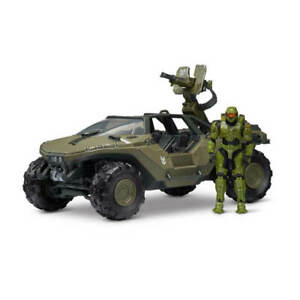 """Halo 3.75"""" World of Halo Deluxe Vehicle & Figure Pack Warthog with Master Chief"""