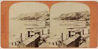 Il Havre La Heve Francia Foto Stereo PL53L3n38 Vintage Albumina c1870