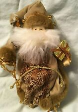 Santa Claus Christmas Hanging Ornament in Beige Clothing