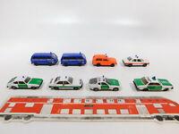 CG536-0,5# 8x Herpa H0/1:87 Modell: VW THW+BMW Notarzt+Range Rover FW+Polizei