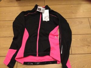 Pearl Izumi Women's Elite Pursuit Softshell Cycling Jacket Size Small black/pink
