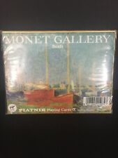 "Two Sealed Decks Playing Cards, ""Monet Gallery, Boats"", Piatnik, Austria"