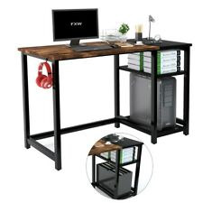 47 Computer Desk With Shelves Pc Laptop Table Writing Home Office Workstation