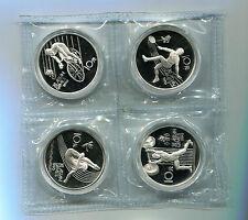 China 1990 1989 11th Asian Games Silver Coin Genuine 10 Yuan 4 PCS UNC
