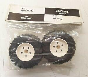Rare Nikko Aero Rhino Thunderbolt Spare Rear Wheels And Tyres