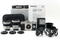 "PENTAX Q10 Twin Lens Kit Zoom 02 5-15mm & 06 15-45mm ""N Mint"" From Japan #95"