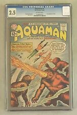 AQUAMAN #1 DC Comics 1962 CGC 2.5 First Appearance of Quisp