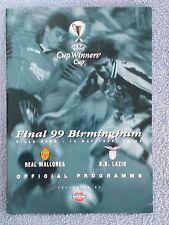 1999 - CUP WINNERS CUP FINAL PROGRAMME - REAL MALLORCA v LAZIO