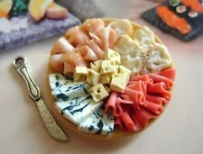 1 dolls house miniatures food salumi platter maison de poupée Dolls house fimo^^