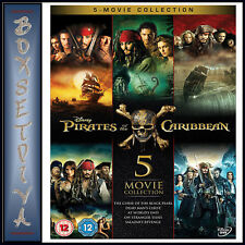 PIRATES OF THE CARIBBEAN - 5 MOVIE COLLECTION  ***BRAND NEW DVD BOXSET****