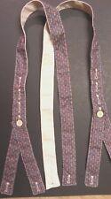 Civil War Handsewn Suspender Confederate Union BLUE GRAY GOLD 100% Cotton