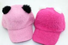 Cute Furry Panda Fashion Cap (Rose Pink)