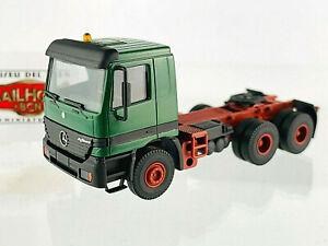 216 KIBRI H0 - Tracteur Mercedes Actros Vert - Modèle De Vitrine - Sans