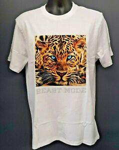 "Men's Rebel Minds Leopard ""Beast Mode"" T-shirt - White"