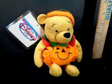 Winnie The Pooh Halloween Pumpkin Plush Stuffed Animal Toy Doll New