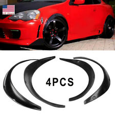 4pcs Wheel Fender Flares over wide body wheel arches Universal Black
