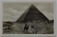Antique Real Photo Postcard Cairo Egypt Chefren Chephren Khafre Pyramid Giza